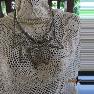 Chico's gold/silver/pearl designer necklace
